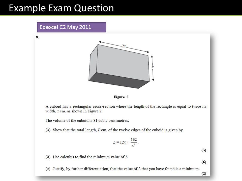 Edexcel C2 May 2011 Example Exam Question