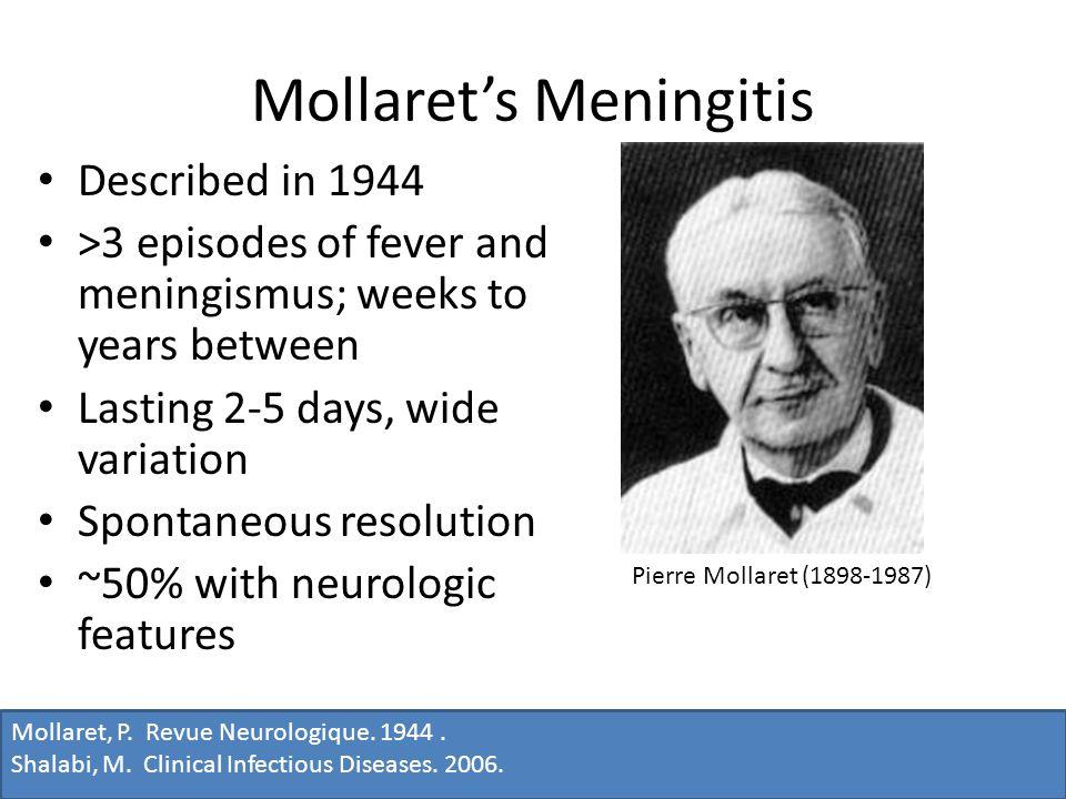 Mollaret, P. Revue Neurologique. 1944. Shalabi, M.