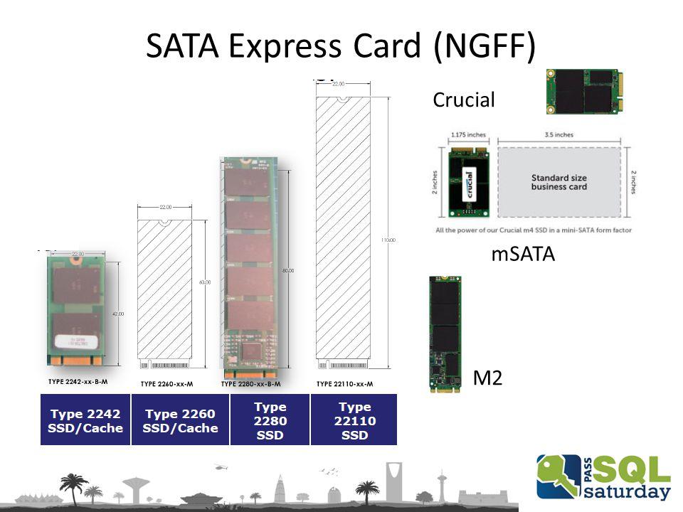 SATA Express Card (NGFF) mSATA M2 Crucial