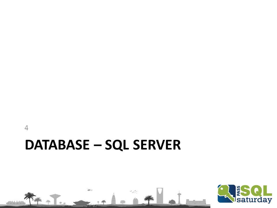 DATABASE – SQL SERVER 4