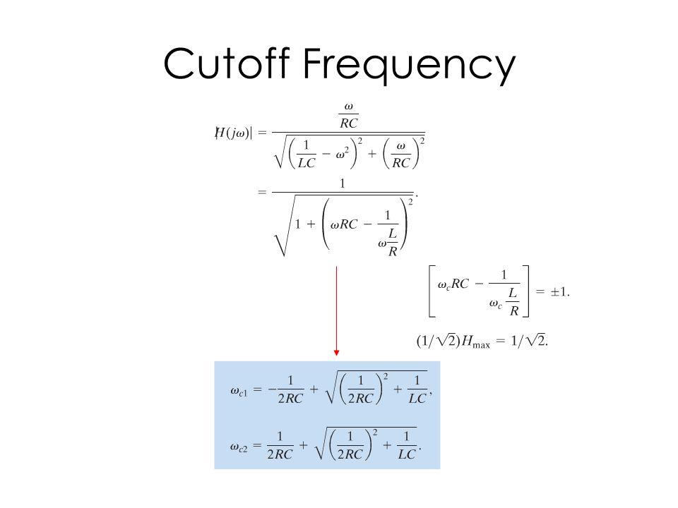 Cutoff Frequency
