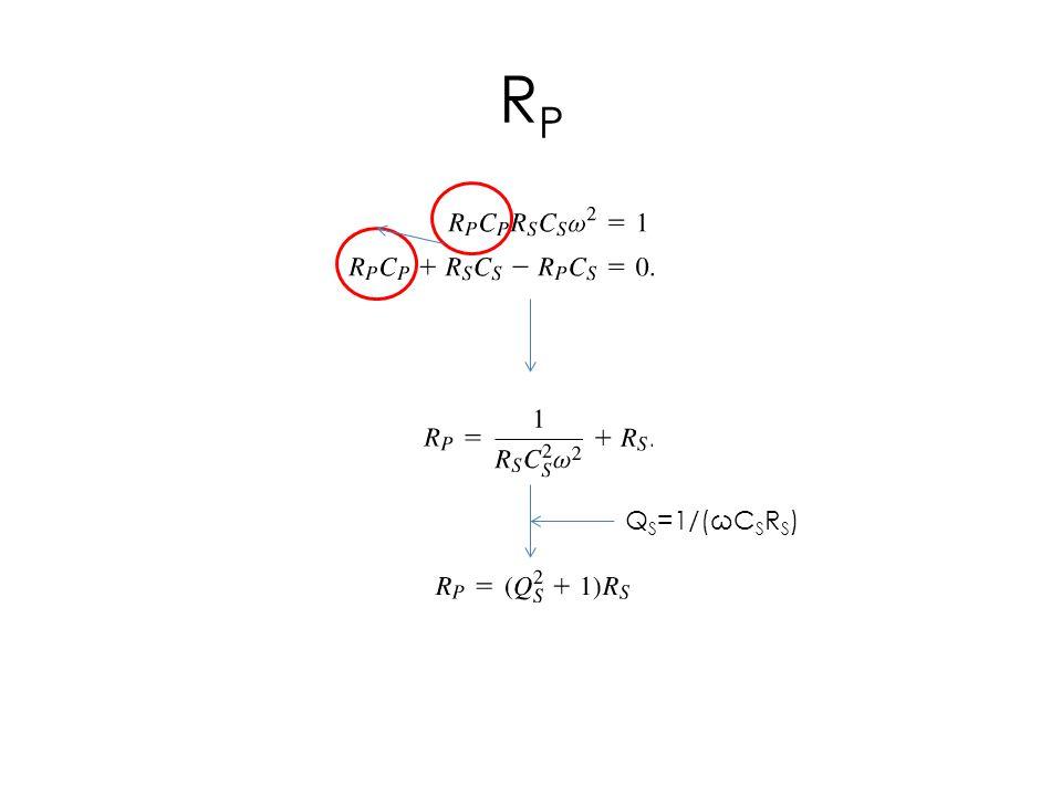 RPRP Q S =1/(ωC S R S )