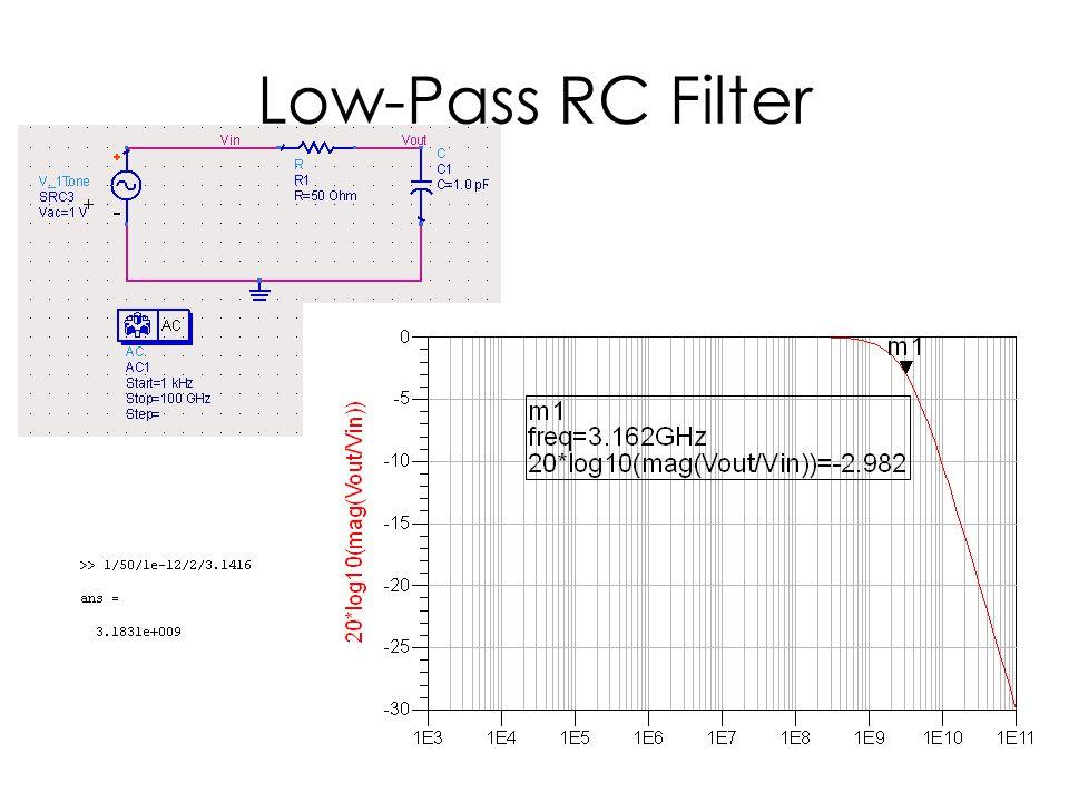 Low-Pass RC Filter