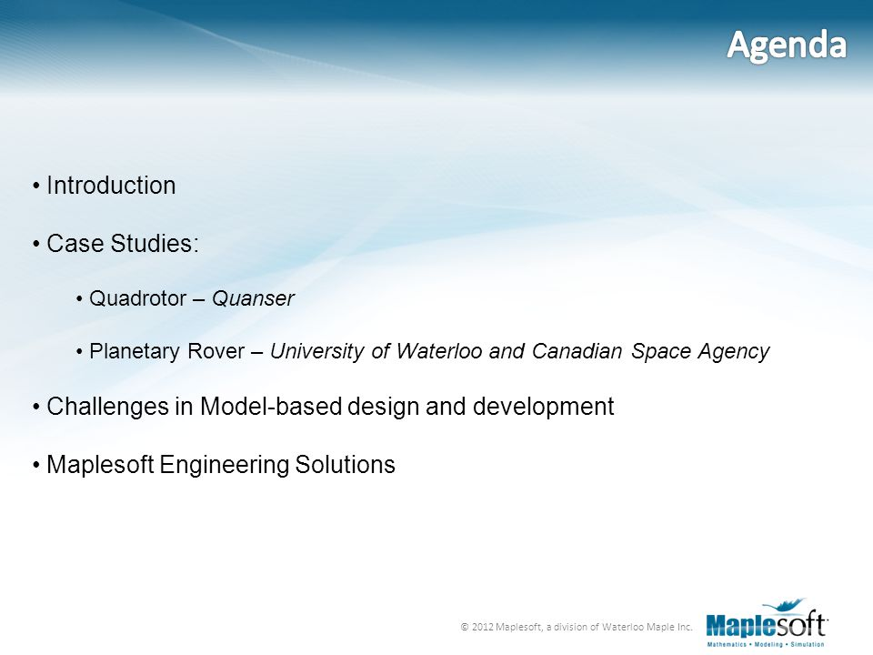 © 2012 Maplesoft, a division of Waterloo Maple Inc.