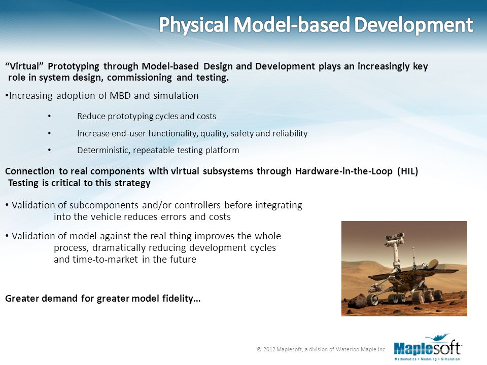 © 2012 Maplesoft, a division of Waterloo Maple Inc. Multibody Modeling