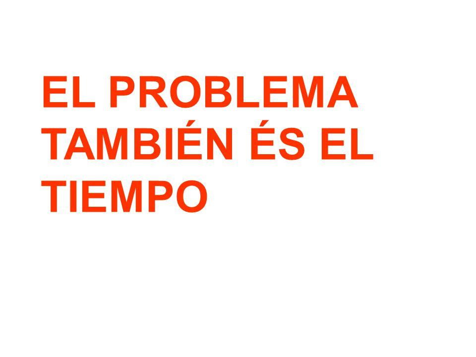 EL PROBLEMA TAMBIÉN ÉS EL TIEMPO