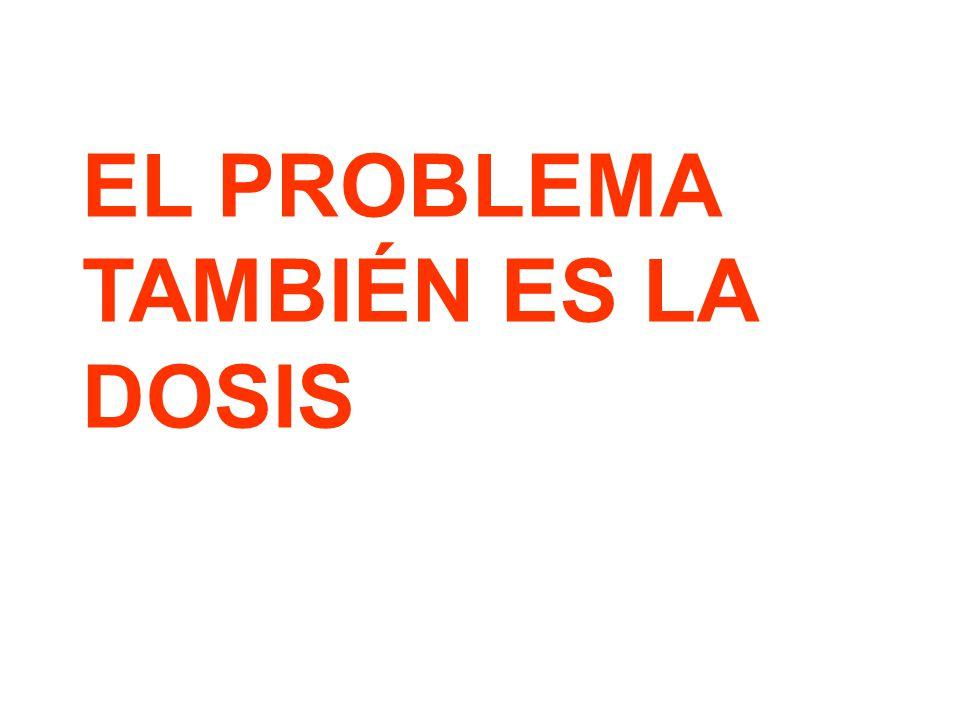 EL PROBLEMA TAMBIÉN ES LA DOSIS