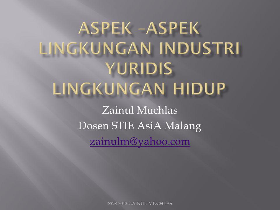 Zainul Muchlas Dosen STIE AsiA Malang zainulm@yahoo.com SKB 2013 ZAINUL MUCHLAS
