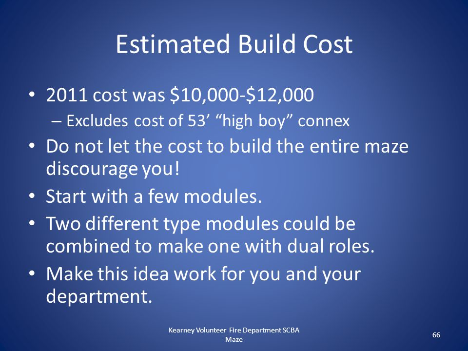 """Estimated Build Cost 2011 cost was $10,000-$12,000 – Excludes cost of 53' """"high boy"""" connex Do not let the cost to build the entire maze discourage yo"""