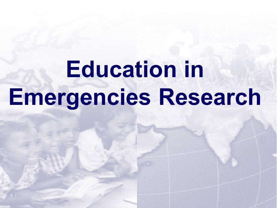 Session 1-17 Education in Emergencies Research