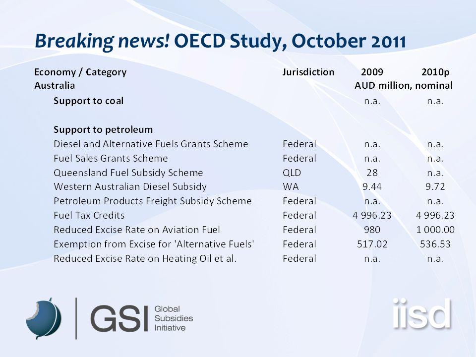 Breaking news! OECD Study, October 2011