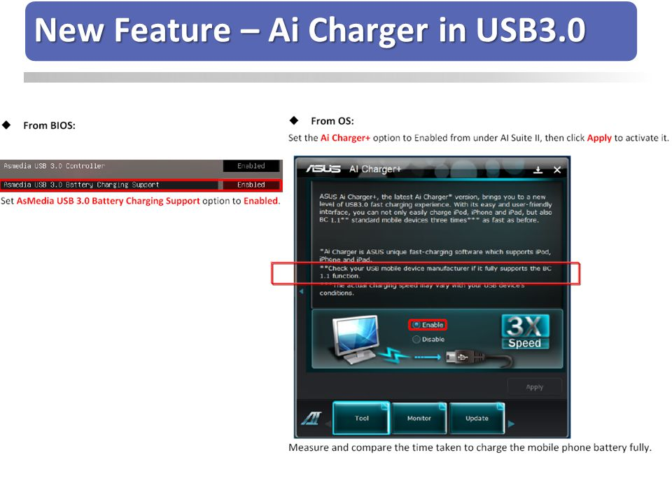 New Feature – Ai Charger in USB3.0