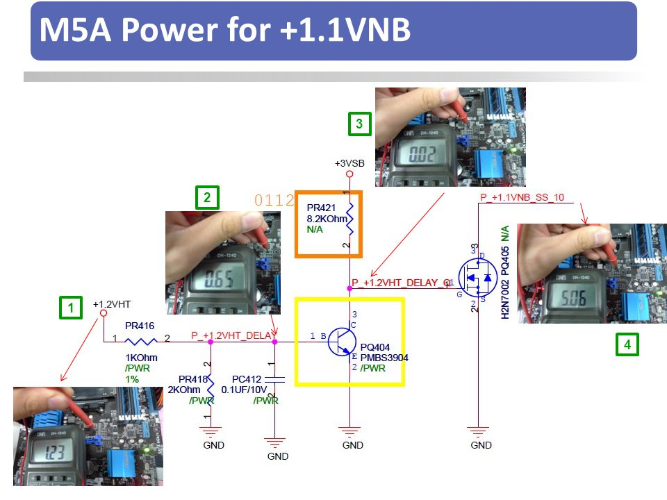 M5A Power for +1.1VNB 1 2 3 4
