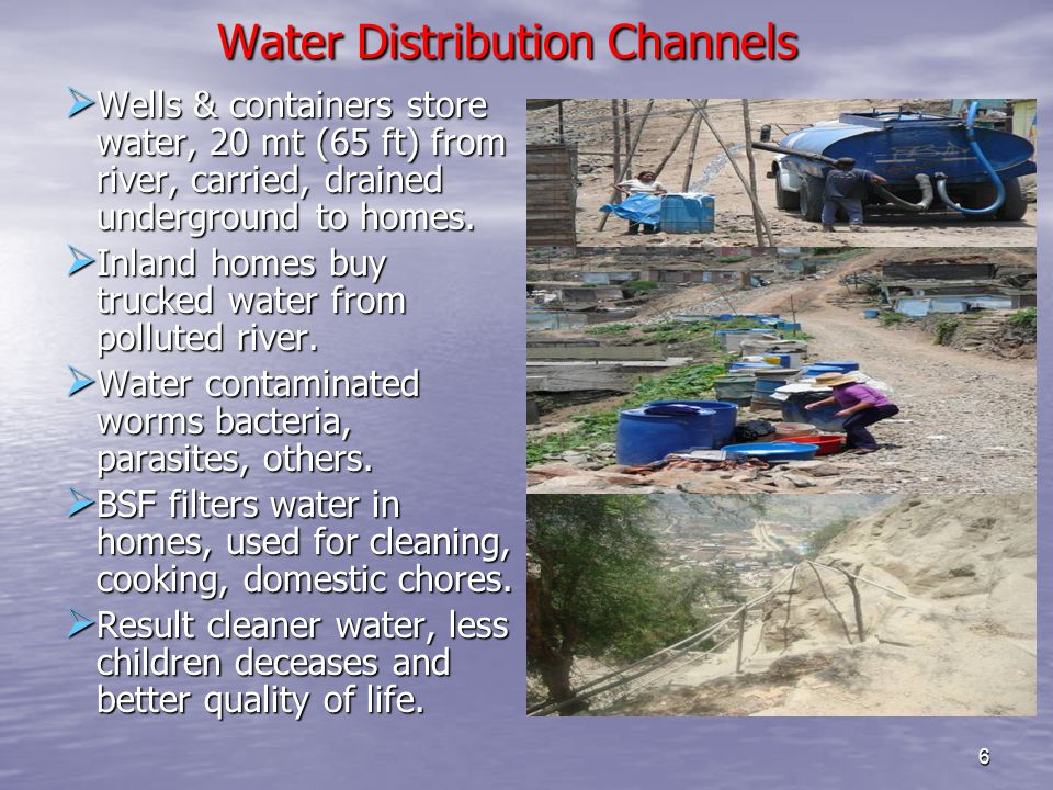 Water Distribution Channels Water Distribution Channels  Wells & containers store water, 20 mt (65 ft) from river, carried, drained underground to homes.