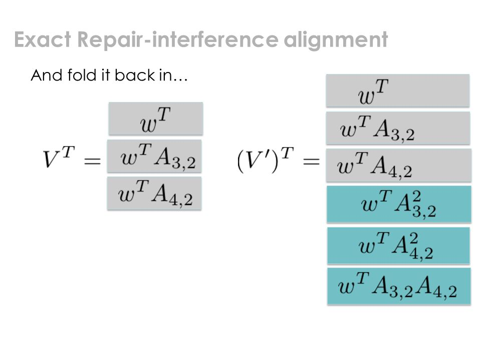 Exact Repair-interference alignment And fold it back in…