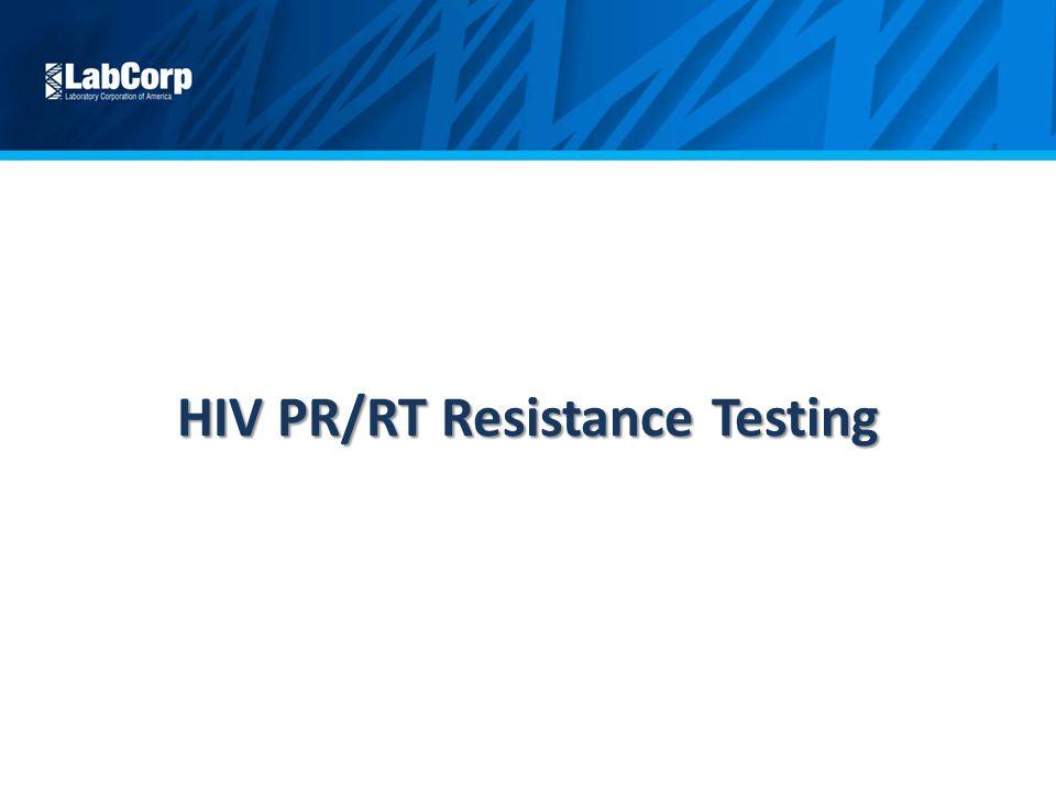 HIV PR/RT Resistance Testing