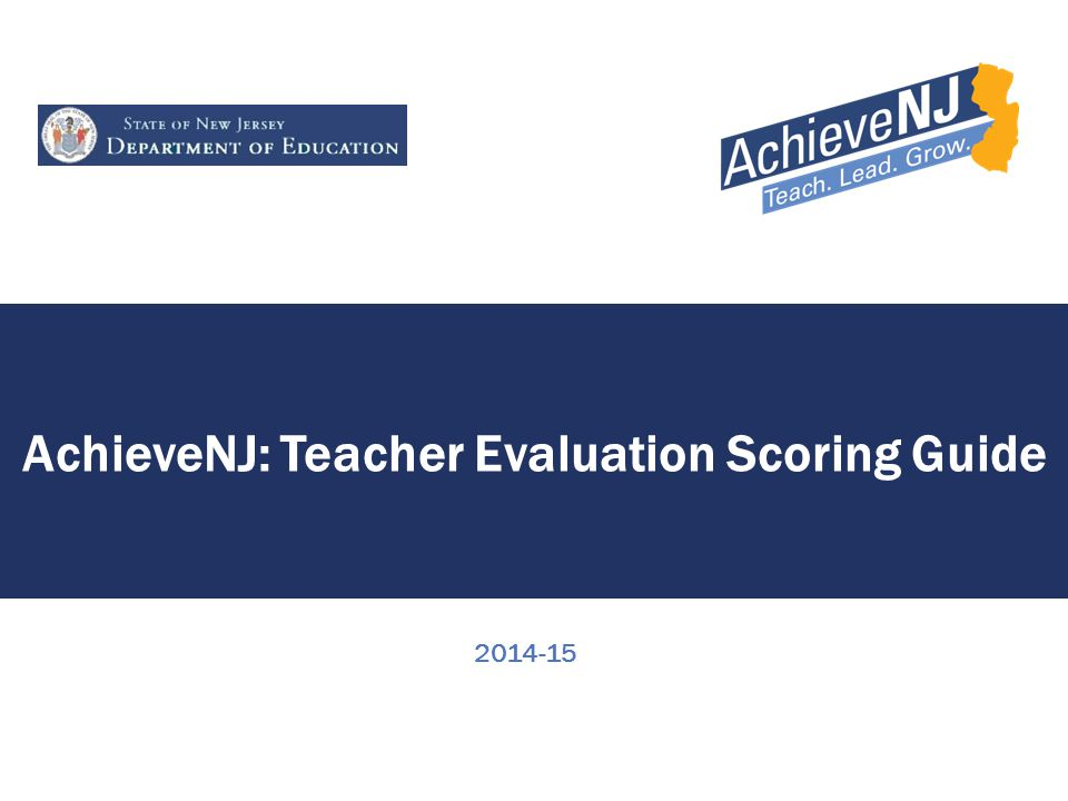 2 Overview This presentation provides information on how districts compile evaluation ratings for teachers in AchieveNJ.