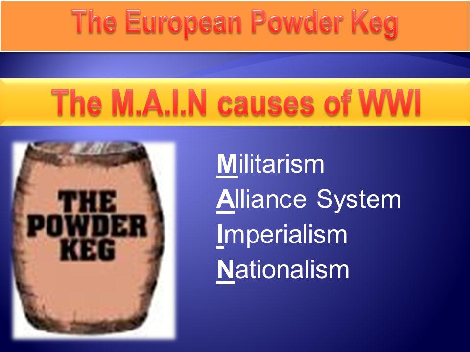 Militarism Alliance System Imperialism Nationalism