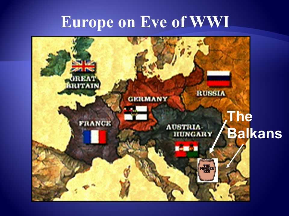 Europe on Eve of WWI The Balkans