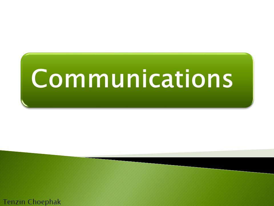 Communications Tenzin Choephak