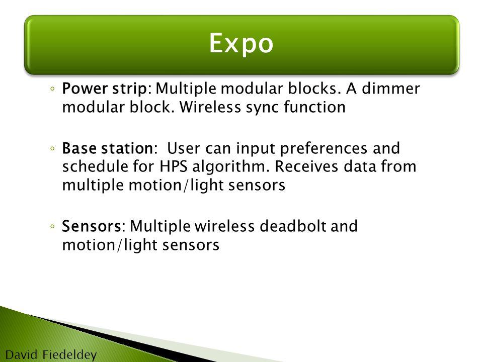Expo David Fiedeldey ◦ Power strip: Multiple modular blocks.