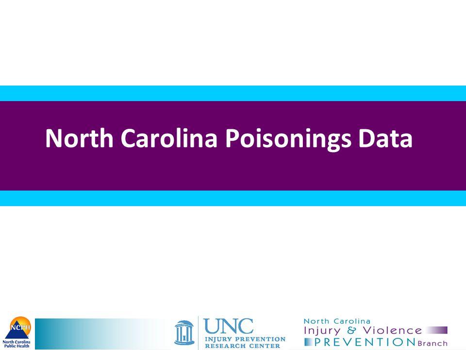 11 Unintentional Poisoning and Motor Vehicle Deaths North Carolina Residents, 1999–2012 National Vital Statistics System, http://wonder.cdc.gov, multiple cause dataset Source: Death files 1999-2012, State Center for Health Statistics.