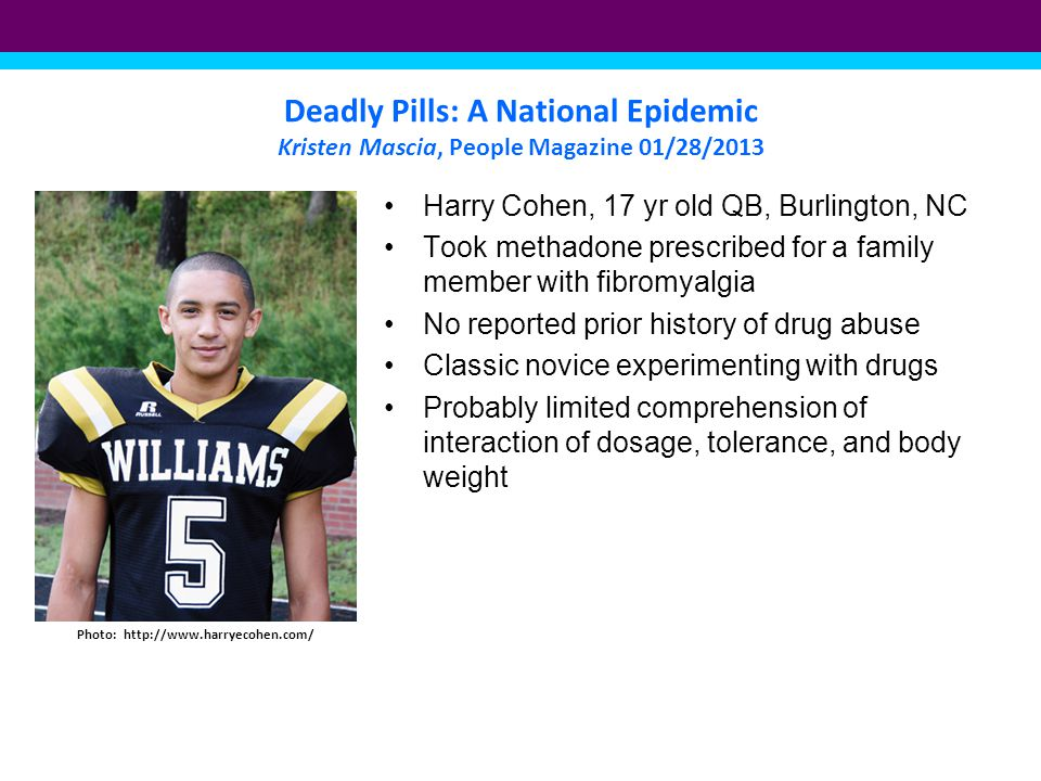Deadly Pills: A National Epidemic Kristen Mascia, People Magazine 01/28/2013 Jace Flom s mom died two weeks after her birth of an overdose of prescription drugs Photo: Grant Delin