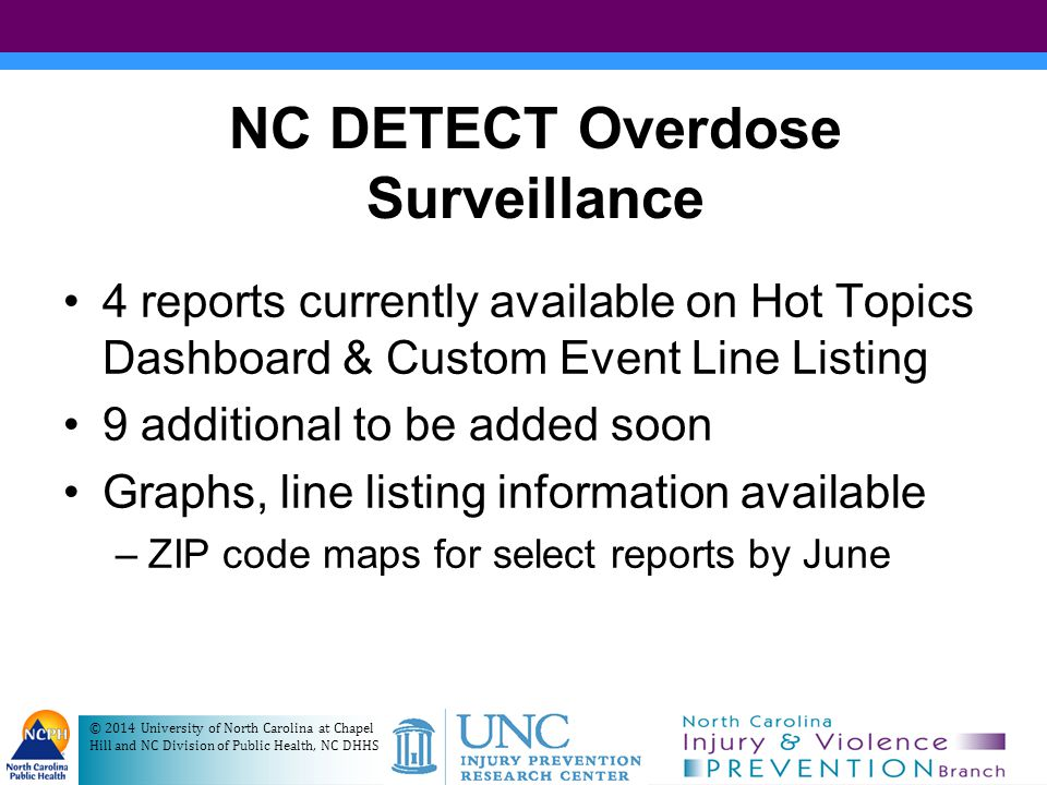 Dashboard of Overdose Reports For Your County