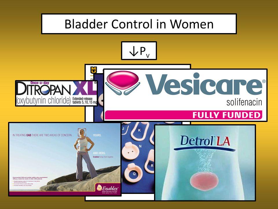 Bladder Control in Women ↓P v