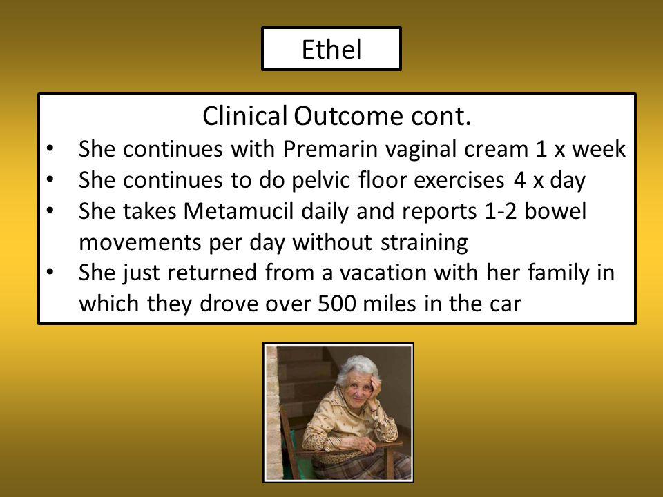 Ethel Clinical Outcome cont.