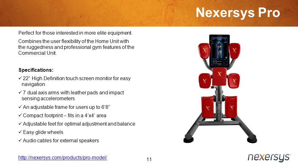 Nexersys Pro 11 Perfect for those interested in more elite equipment.