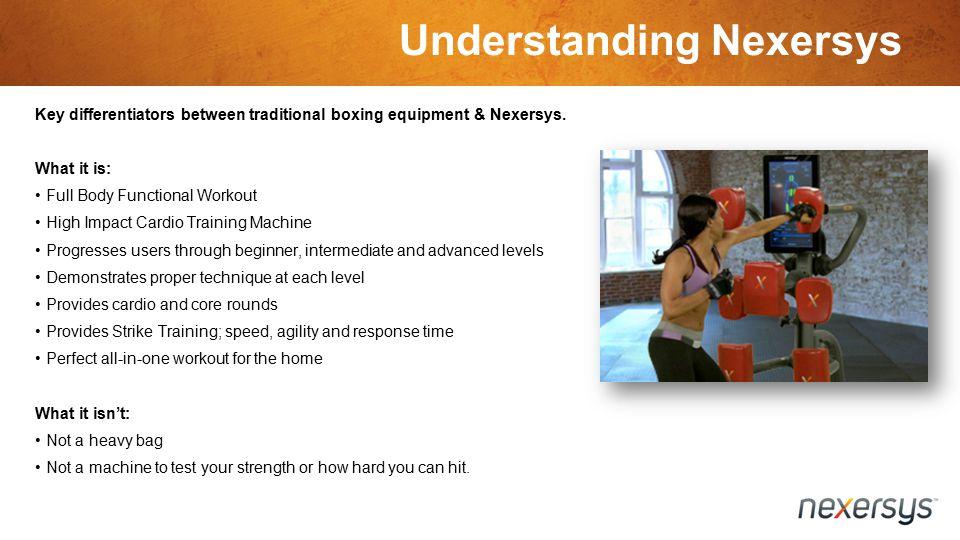 Understanding Nexersys Key differentiators between traditional boxing equipment & Nexersys.