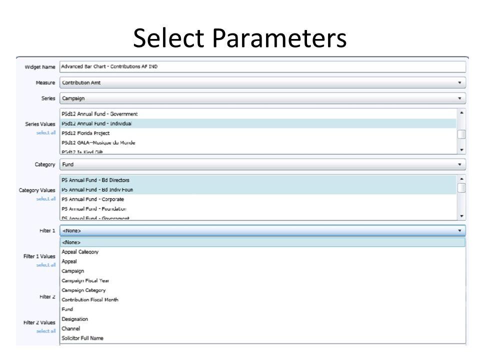 Select Parameters