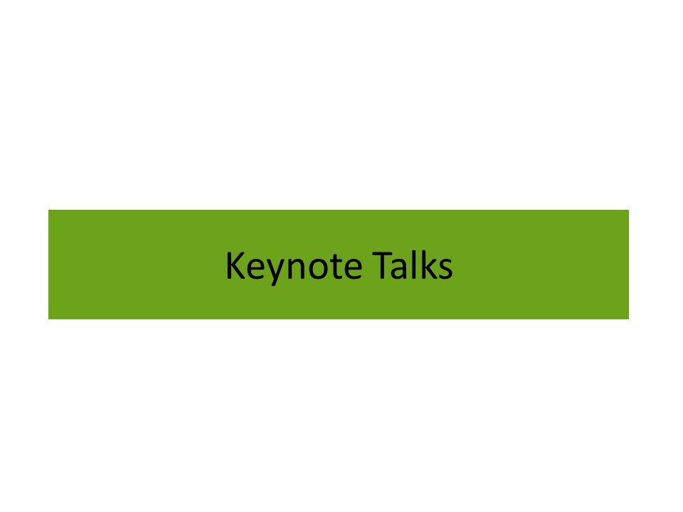 Keynote Talks