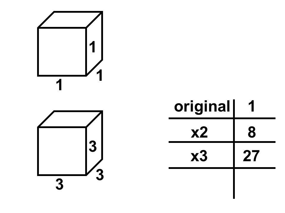 1original 1 1 1 3 3 3 8x2 27x3