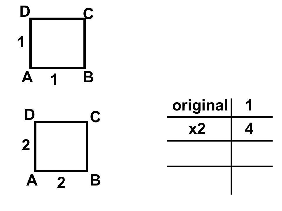 AB C D 1 1 AB C D 3 3 1original 4x2 9x3