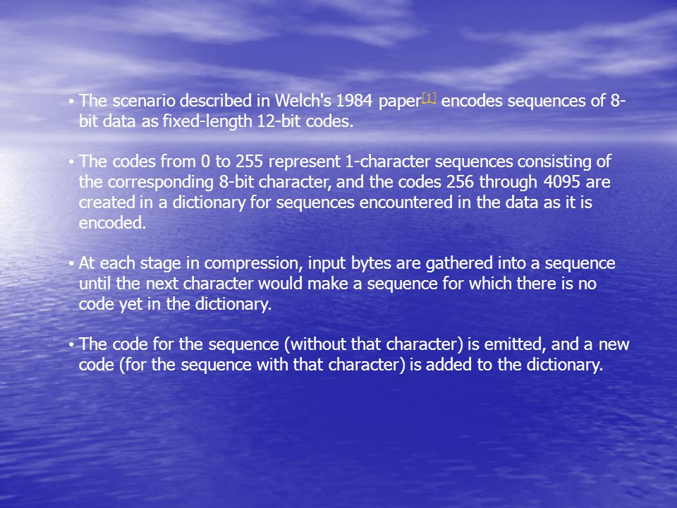 Software Research Wavelet Coding
