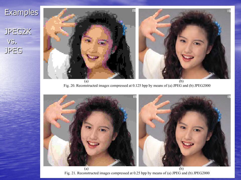 Lec14 – Wavelet Coding [66] Examples JPEG2K vs. JPEG