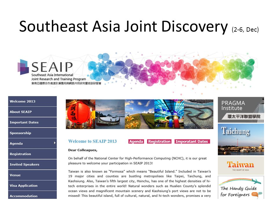 Southeast Asia Joint Discovery (2-6, Dec)