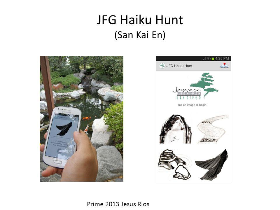 JFG Haiku Hunt (San Kai En) Solar powered PlaceSticker device (ISID, Tokyo, Japan)