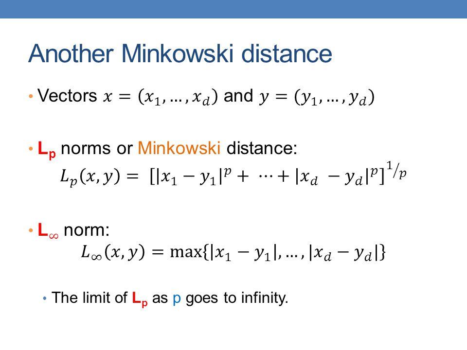 Another Minkowski distance