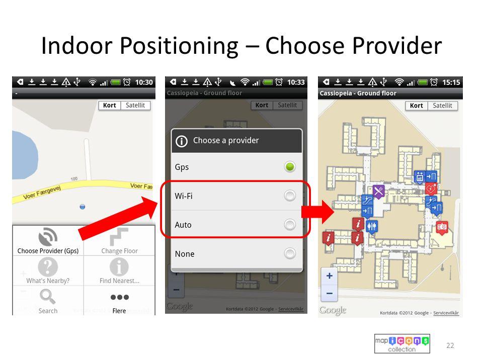 Indoor Positioning – Choose Provider 22