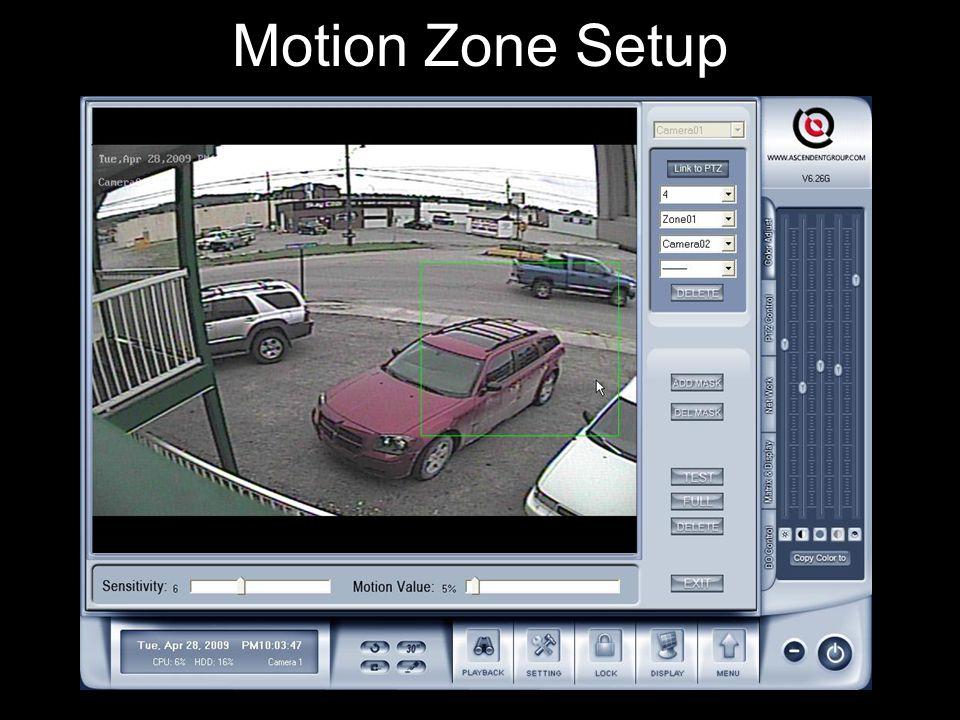Motion Zone Setup