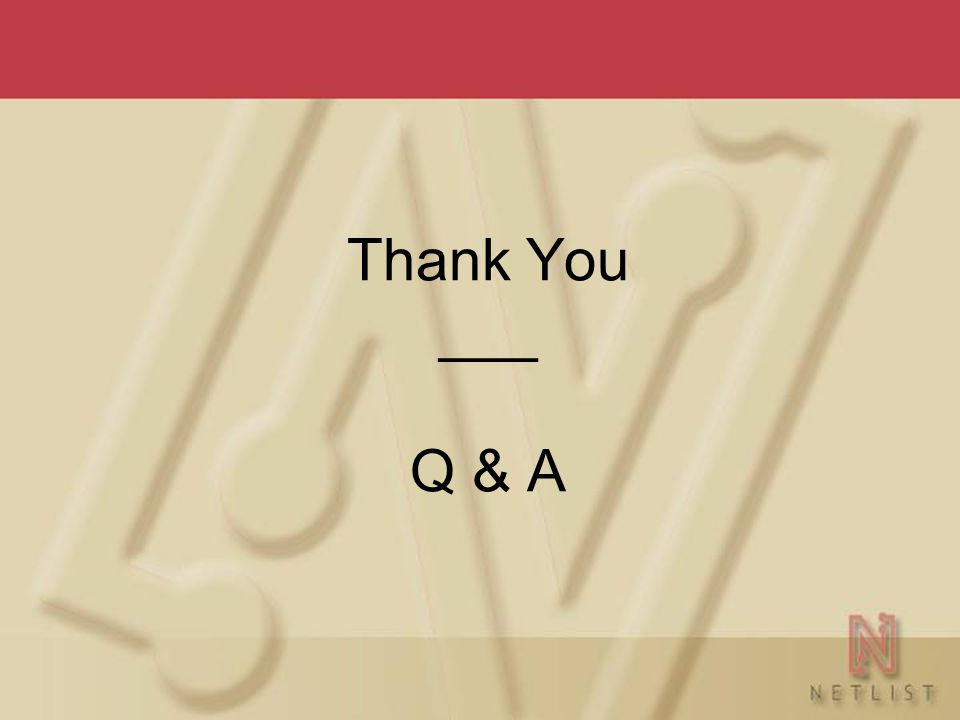 Thank You ___ Q & A