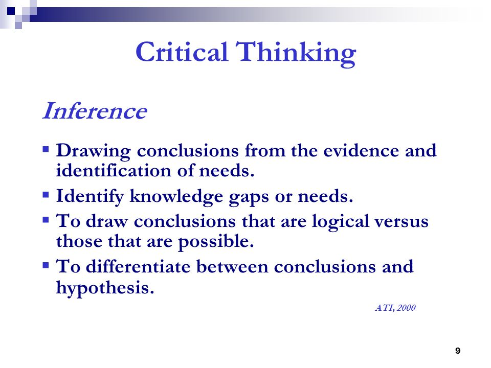 Chapter 2: Six Steps Of Critical Thinking