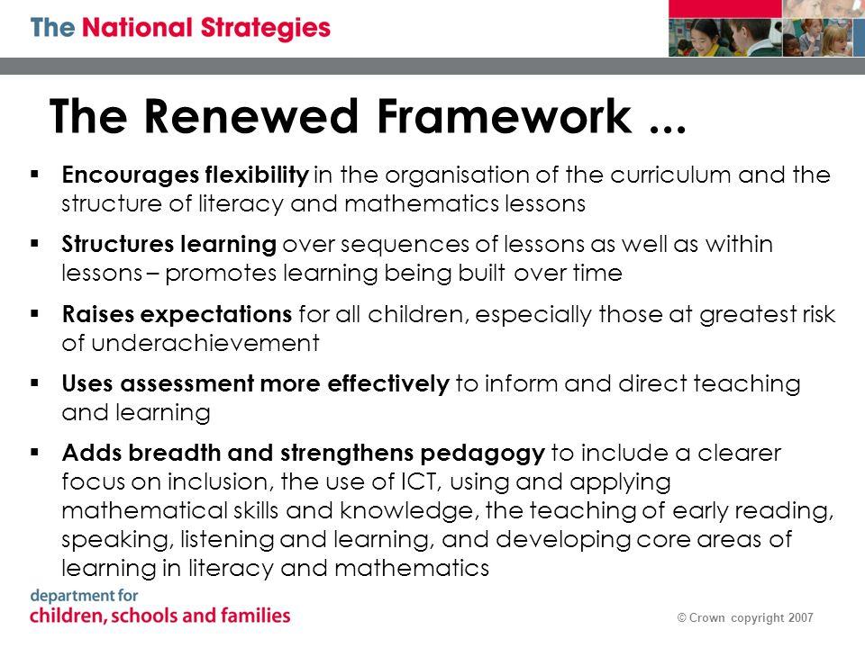 © Crown copyright 2007 Children should develop habits as: pattern sniffers ……… experimenters ….