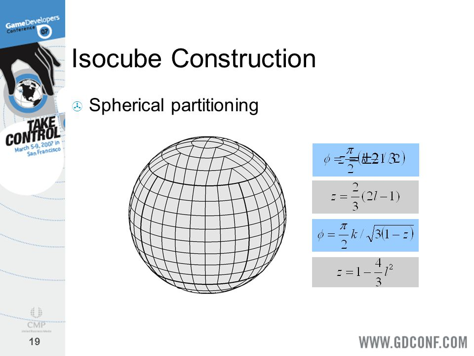 19 Isocube Construction  Spherical partitioning