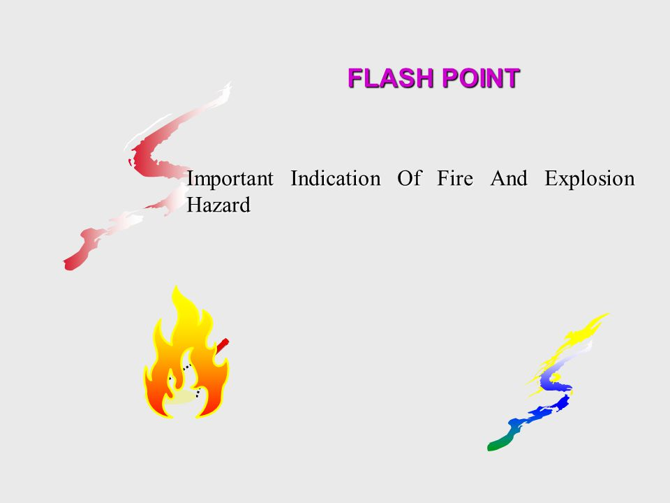 FLASH POINT Important Indication Of Fire And Explosion Hazard