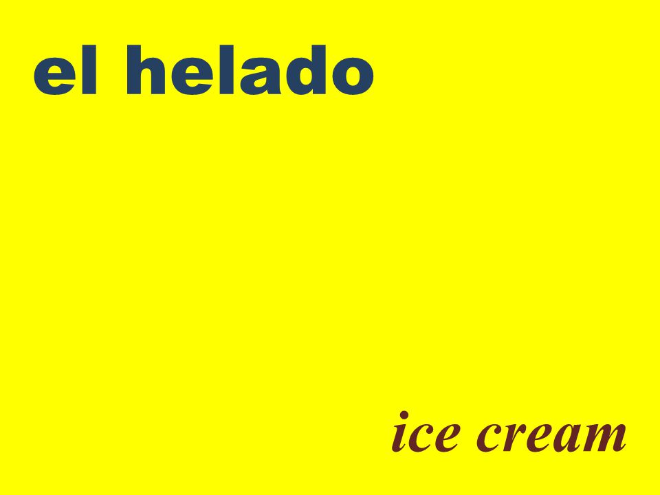el helado ice cream