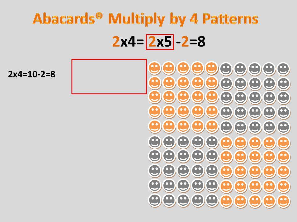2x4=10-2=8 2x4= 2x5 -2=8